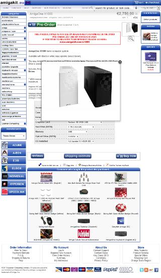 Oferta komputera na stronie dystrybutora - AmigaKit