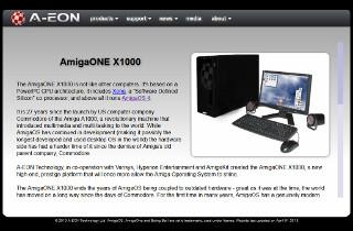 AmigaOne X1000 na stronie firmy A-EON