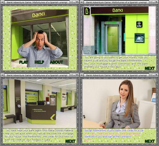 BANKI: Misfortunes of a spanish unemployed man
