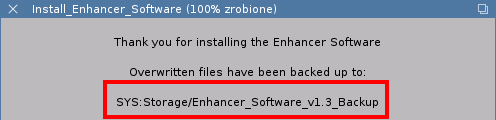 Enhancer Software - backup