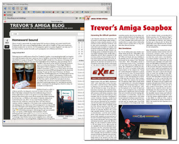 Blog and Amiga Future article